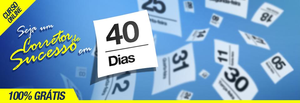 Workshop online gratuito - Seja um corretor de sucesso em 40 dias
